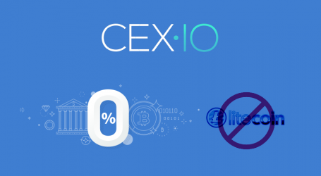 CEX.IO introduces zero fee deposits via bank transfer, removes Litecoin trading