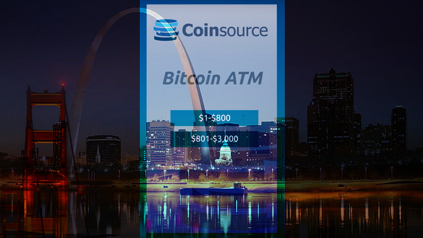 Bitcoin ATM firm Coinsource launches 3 new machines in St. Louis