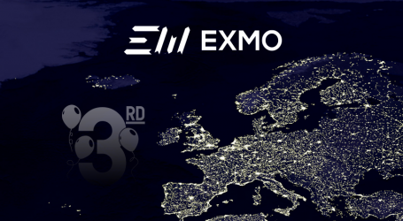 Crypto platform EXMO marks 3rd anniversary; set to redesign platform and add new currency pairs