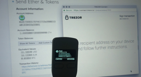 Hardware wallet TREZOR integrates with MyEtherWallet