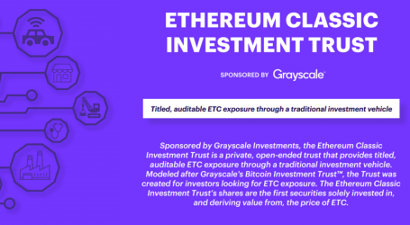 Grayscale Ethereum Classic Investment Trust is now live