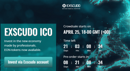Blockchain financial provider Exscudo set to launch ICO on April 25th