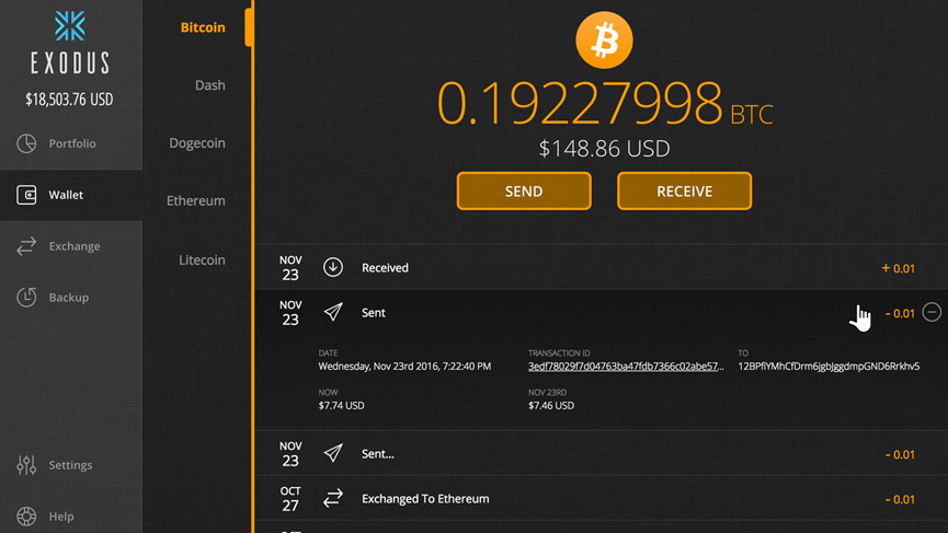 bitcoin wallet or exchange