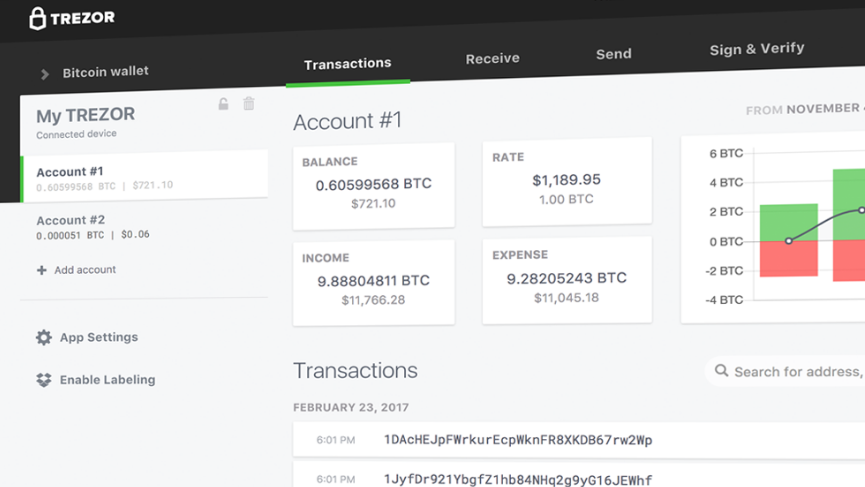TREZOR crypto wallet now fully supports all current ERC-20 tokens