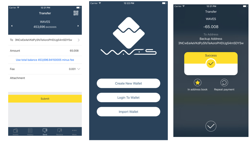 Waves Platform wallet now available as iOS app