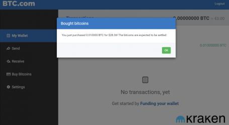 BTC.com wallet partners with Kraken for in app bitcoin buying