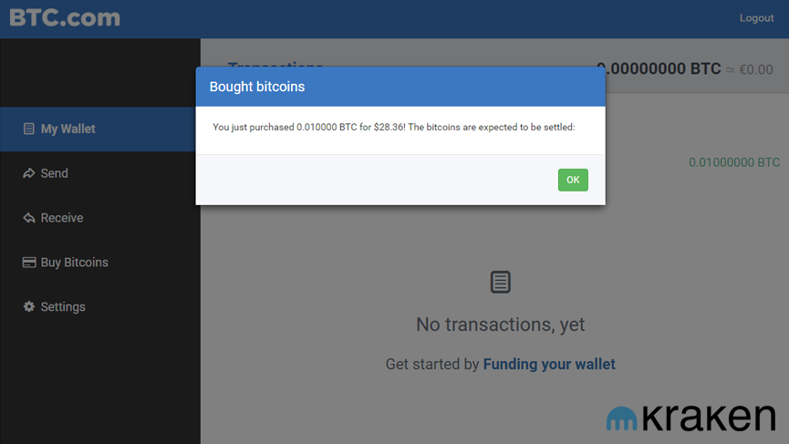 Btc wallet partners with kraken for in app bitcoin buying ccuart Images