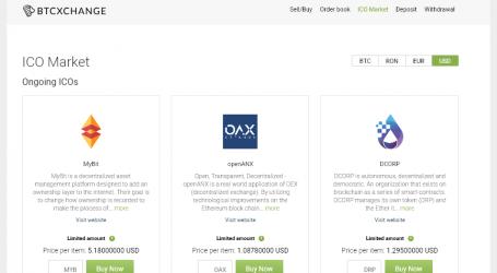 Romanian bitcoin exchange BTCXchange launches new ICO market interface