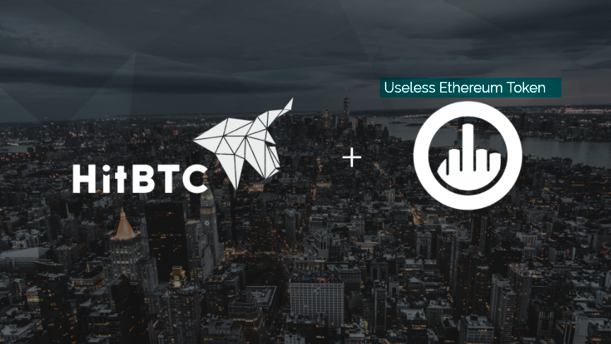"HitBTC lists ""Useless Ethereum Token"" and receives transaction volume"