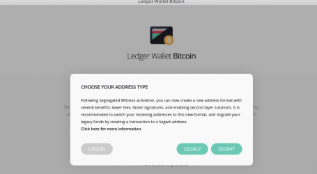 Ledger bitcoin hardware wallet integrates SegWit support