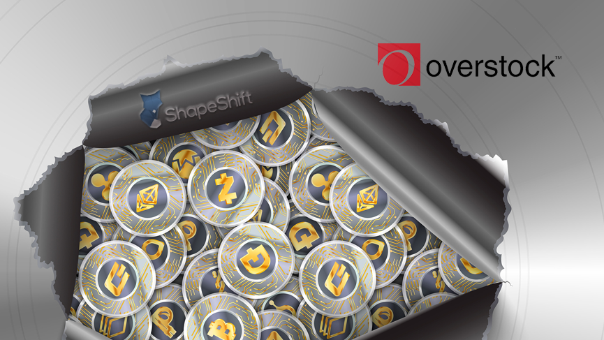 Overstock integrates cryptocurrency payment API from ShapeShift