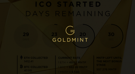 GoldMint, provider of gold-backed crypto asset launches ICO today