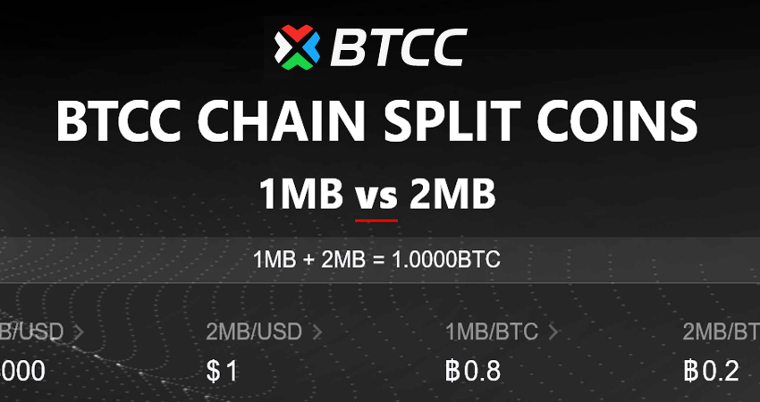 Bitcoin Exchange Btcc Introduces Chain Split Coin Trading