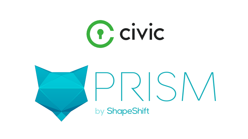 ShapeShift to integrate Civic identity verification security to blockchain asset portfolio product Prism