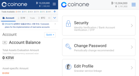Korean bitcoin exchange CoinOne launches new Android app