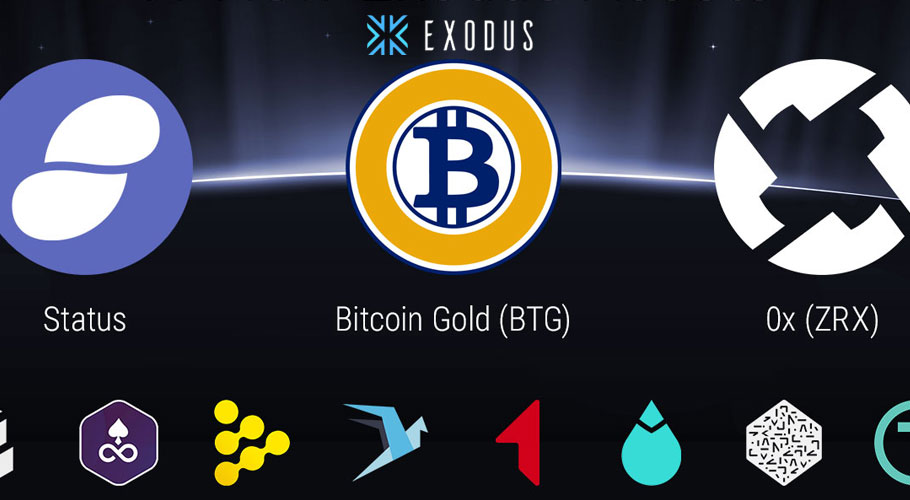Exodus adds 11 new tokens including, Bitcoin Gold, Edgeless, 0x and more