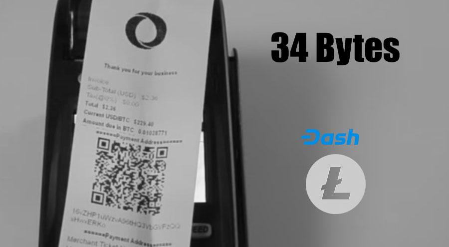 34 Bytes adds Litecoin and DASH plus new exchanges to crypto POS terminal