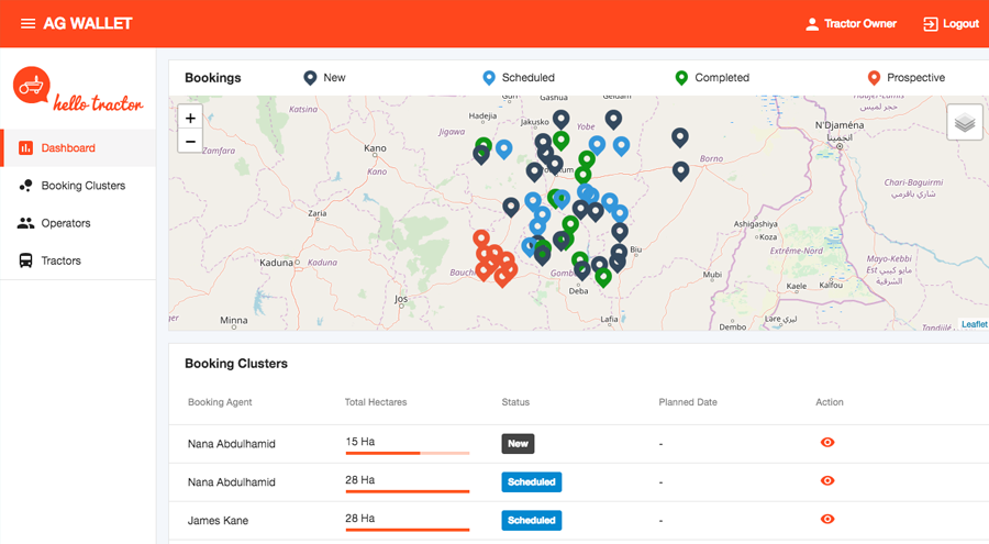 Using machine learning and the IoT, tractor fleet owners will be able to view and manage fleet utilization and predictive maintenance as well as forecast future tractor utilizations based on history, real-time weather and remote sensing satellite data.