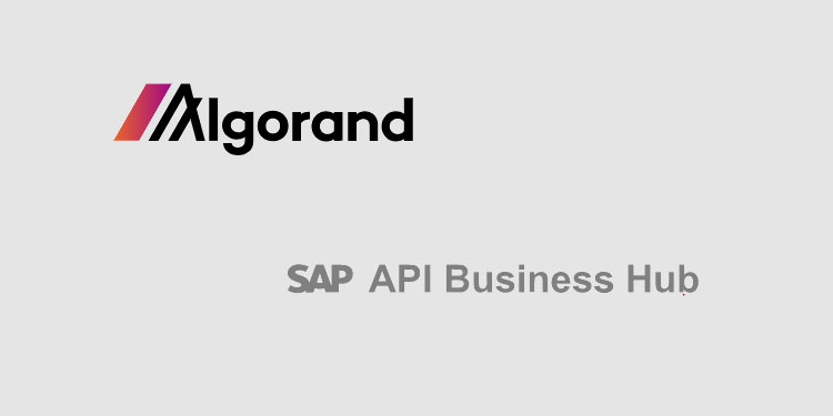 Algorand blockchain open API connector goes live on the SAP API Business Hub