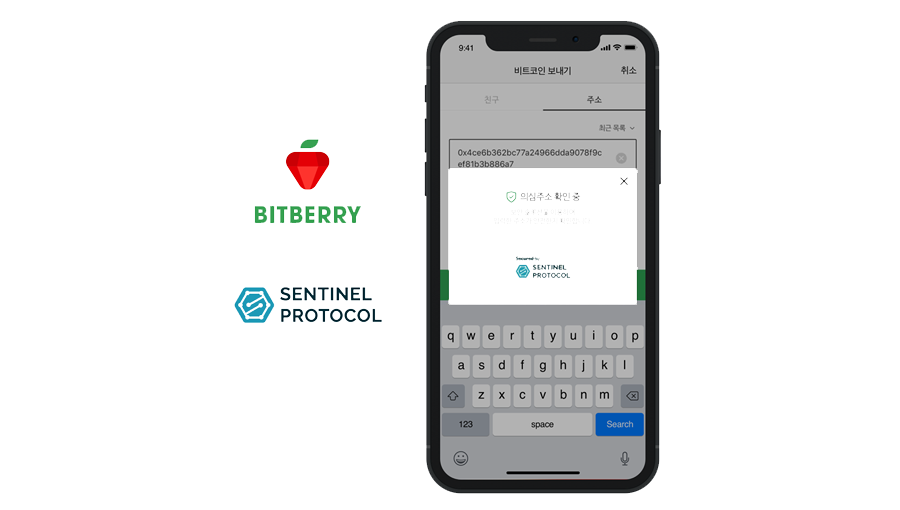 Crypto wallet BITBERRY integrates threat protection from Sentinel Protocol
