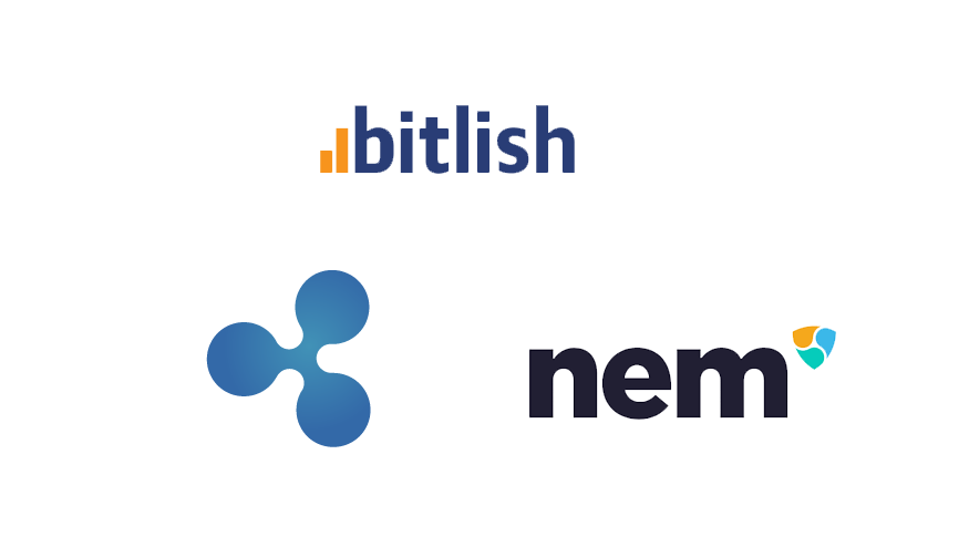 Crypto exchange Bitlish adds support for Ripple (XRP) and NEM (XEM)