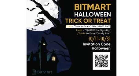 """BitMart Halloween Campaign """"Trick or Treat"""" –Win Up To 10,000 BMX"""