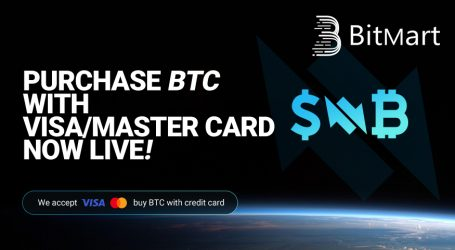 BitMart now offers purchase of BTC, ETH via credit card