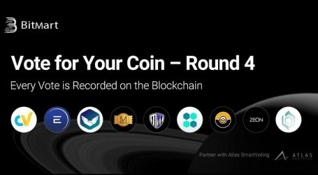 "BitMart's ""Vote for Your Coin: Round 4"" – New Voting Campaign Utilizing Blockchain Interaction"
