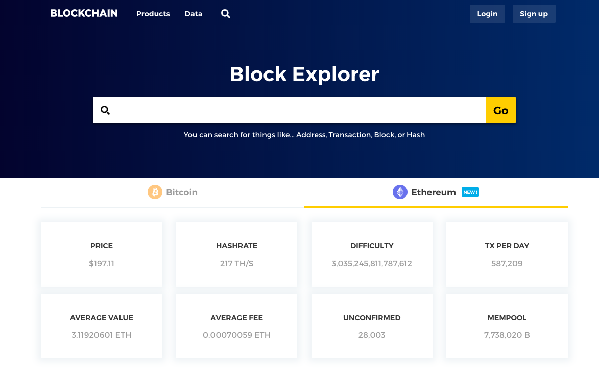 Blockchain.com launches Ethereum (ETH) block explorer