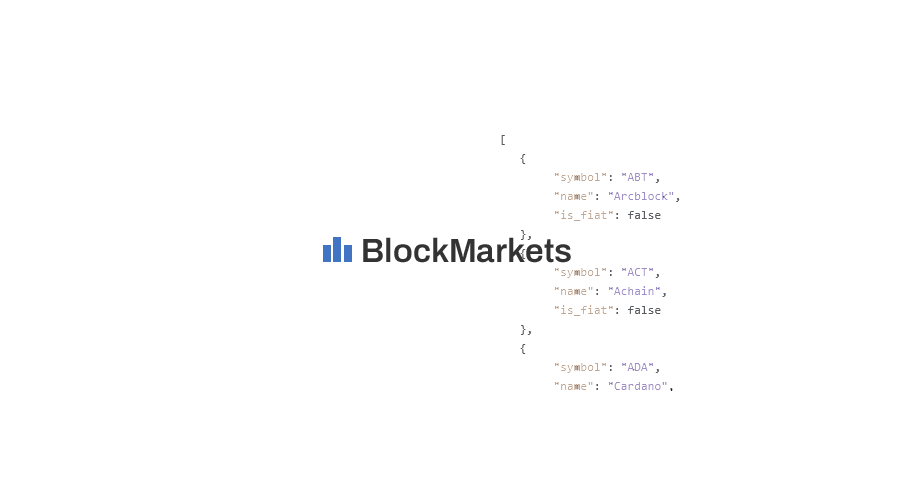 Blockmarkets Io Launches Cryptocurrency Market Data Feed Api