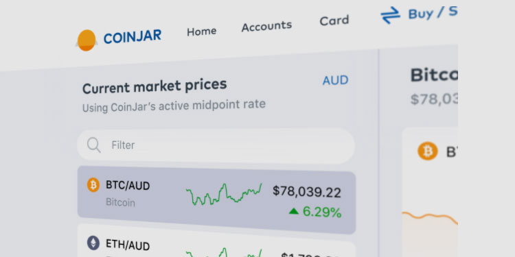 Aussie crypto exchange CoinJar launches new exchange web app