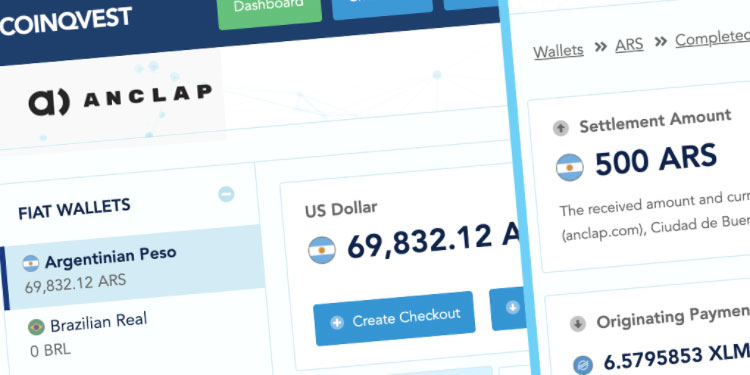 COINQVEST and Anclap introduce inflation free cryptocurrency payment processing for Argentina