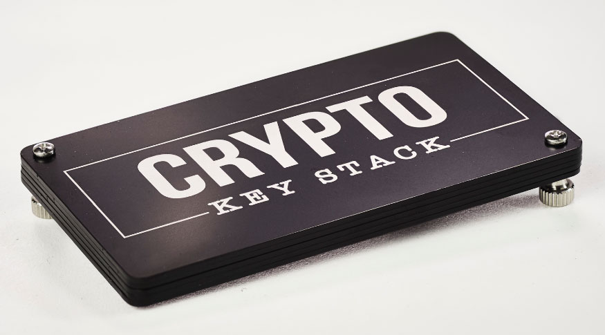 Crypto Key Stack - Fireproof, Waterproof Mnemonic Seed Backup