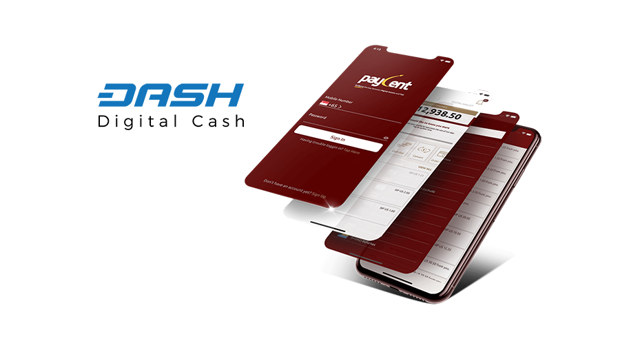 Dash now live on Paycent mobile app for P2P payments