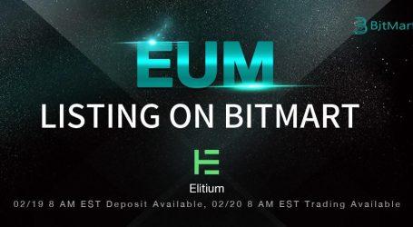 Elitium token debuts on BitMart with 37,500 EUM giveaway