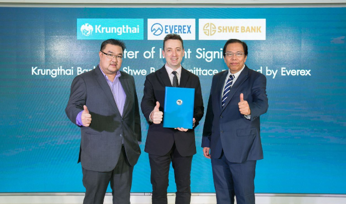 KTB, Shwebank and Everex receive Bank of Thailand approval for blockchain remittance