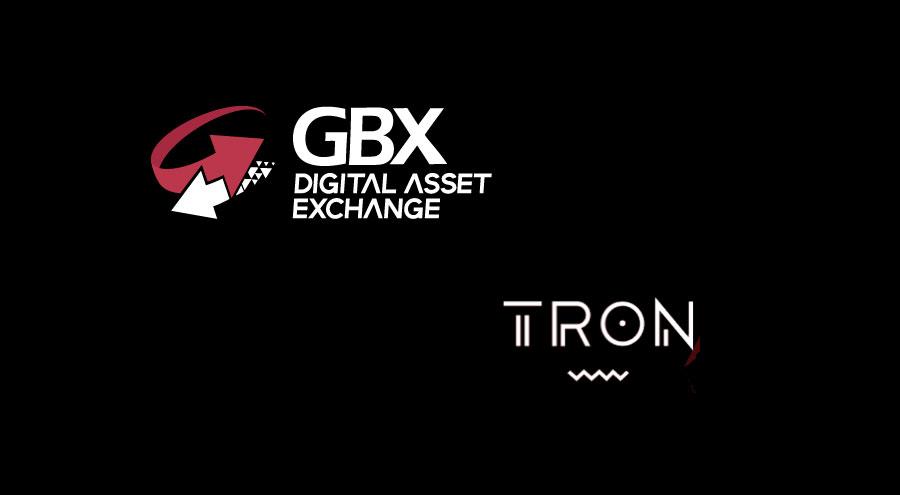 GBX's Digital Asset Exchange lists TRON's TRX token