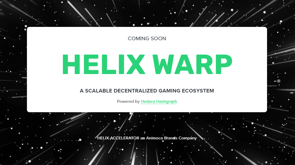 Animoca and Hedera to develop Helix Warp gaming platform and NFT-based football game