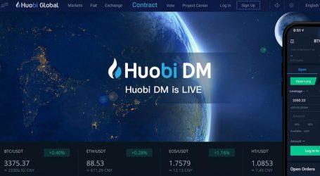 Crypto exchange company Huobi launches derivatives market