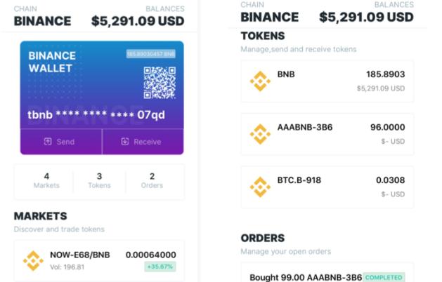 DDEX Wallet now supports Binance Chain