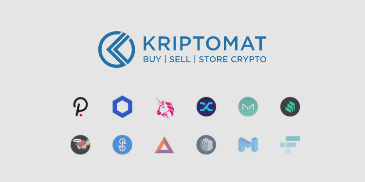 European crypto exchange Kriptomat adds support for 12 new tokens