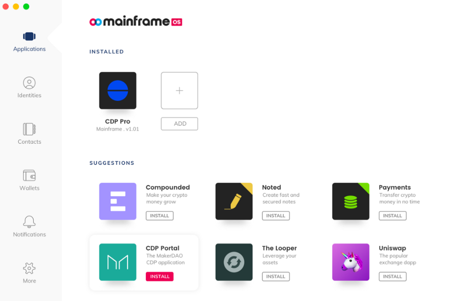 Mainframe OS public release now live with 7 blockchain apps