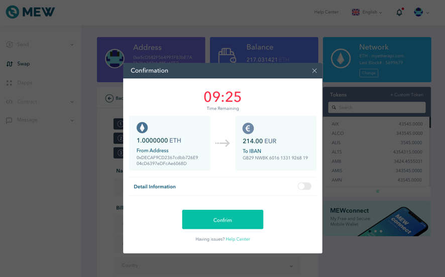 MyEtherWallet and Bity unveil KYC-less cryptocurrency-to-fiat gateway