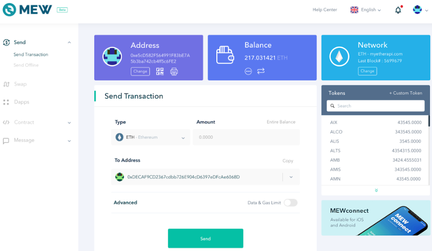MyEtherWallet (MEW) unveils Version 5 redesign