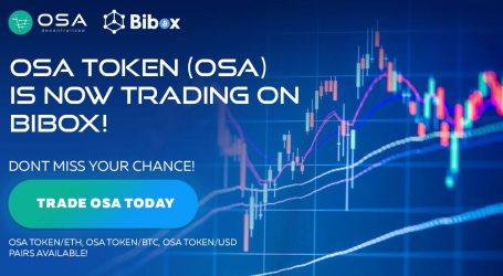 OSA token secures listing on Bibox Exchange