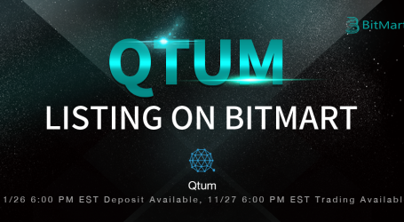 BitMart lists Qtum, the first proof-of-stake smart contract platform