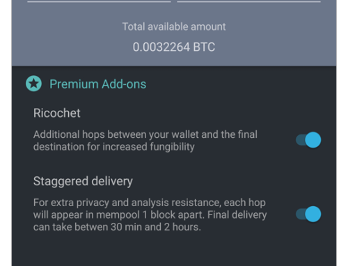 Samourai bitcoin wallet updates with Staggered Ricochet, UTXO tagging, and PayNym UX