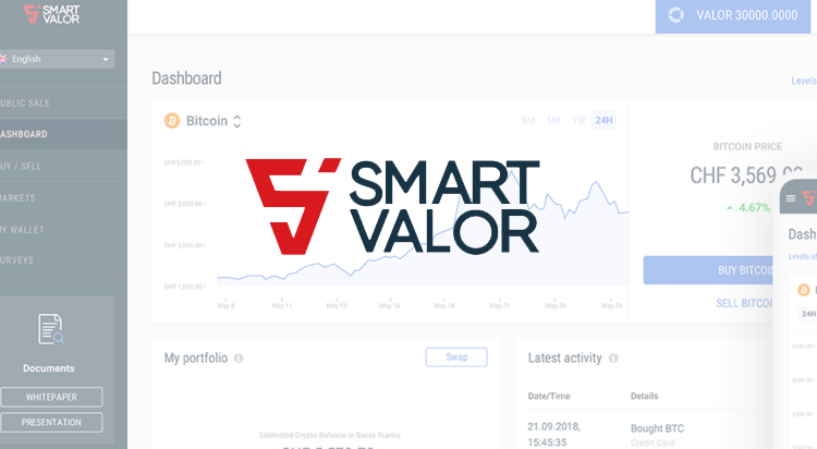 Crypto & security token exchange from SMART VALOR open for
