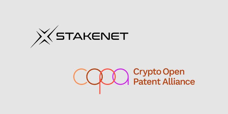 Interchain ecosystem Stakenet joins Crypto Open Patent Alliance (COPA)