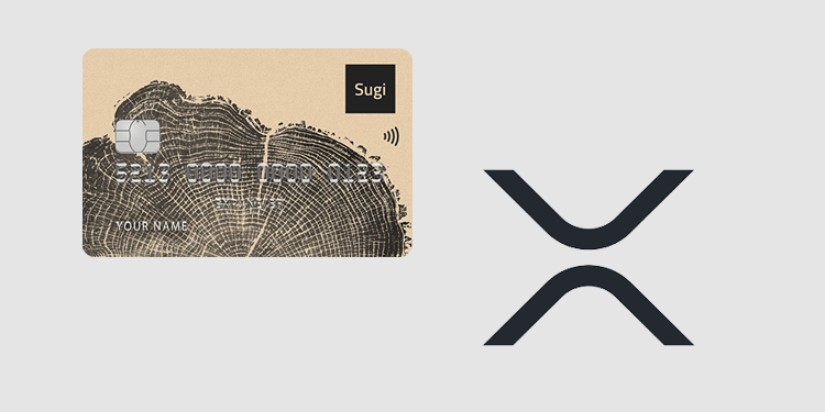 Sugi NFC crypto hardware card and wallet adds support for Ripple (XRP)
